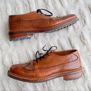 John Fluevog Natural Leather Brown Women's Oxford